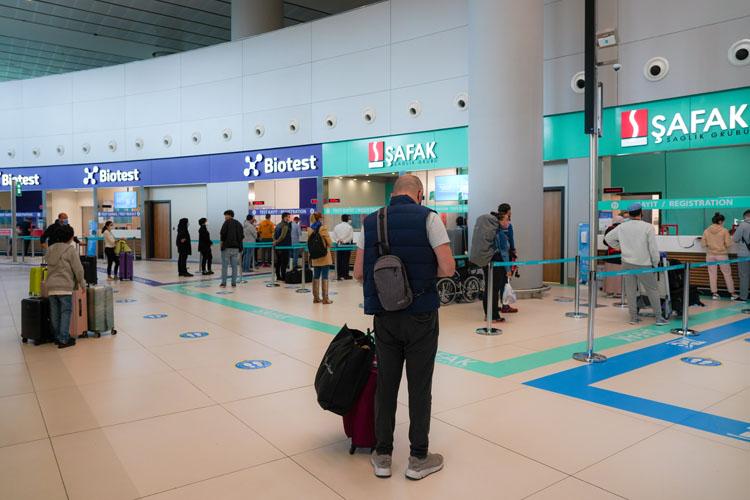 İstanbul Havalimanı Test Merkezi'nde Dakikalar İçinde Covid-19 Testi